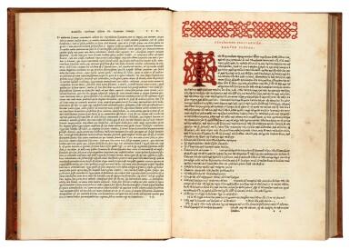 View 1. Thumbnail of Lot 9. Strabo. De situ orbis. Venice, Aldus, 1516. later red morocco, Macclesfield copy.