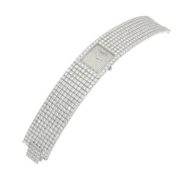 View 2. Thumbnail of Lot 60. Kalla, Ref. 35704-707G White gold and diamond-set bracelet watch Made in 1990 | 江詩丹頓35704-707G型號「Kalla」白金鑲鑽石鍊帶腕錶,1990年製.