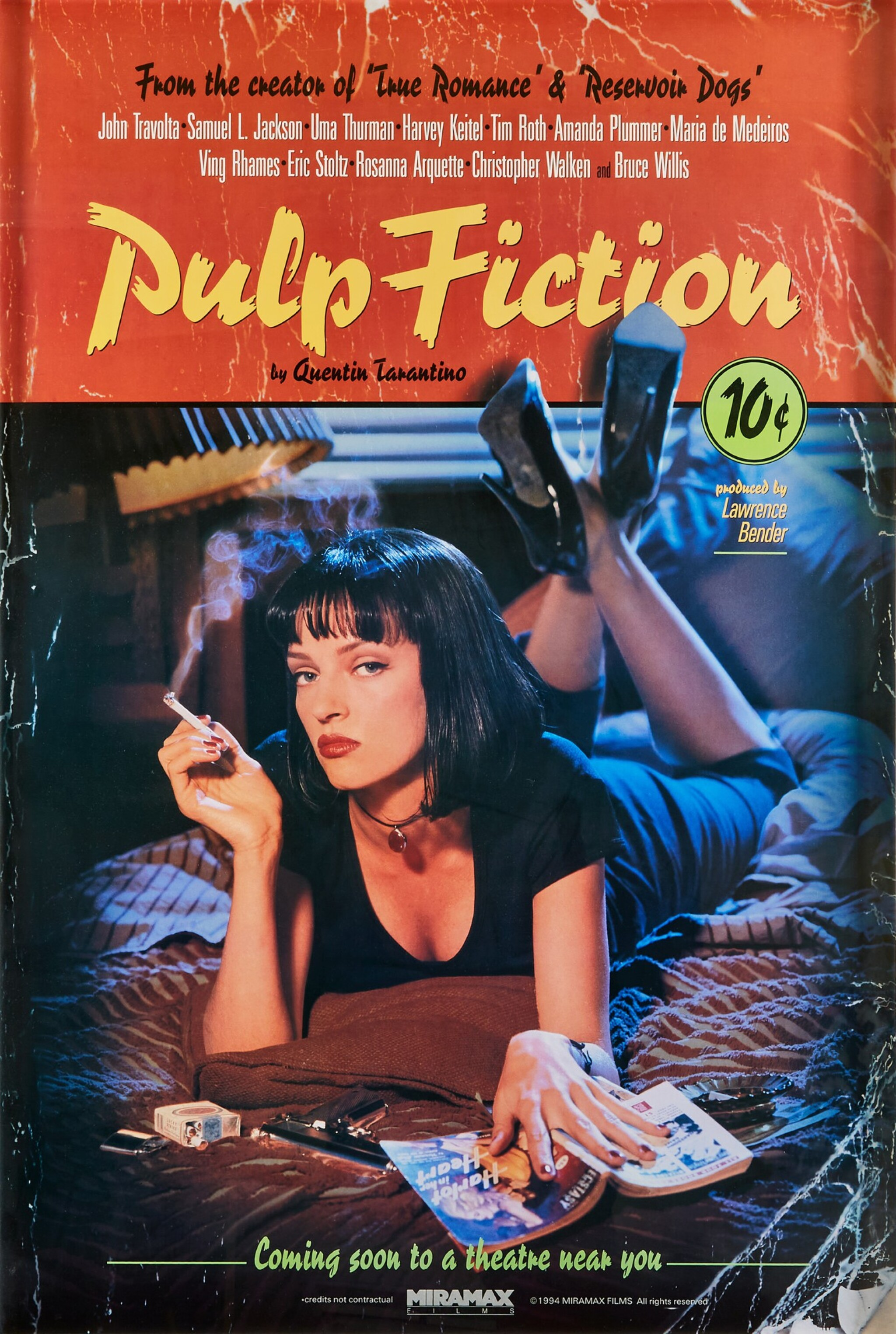 View full screen - View 1 of Lot 178. Photography by Firooz Zahedi, USA, 1994 | Pulp Fiction Poster.