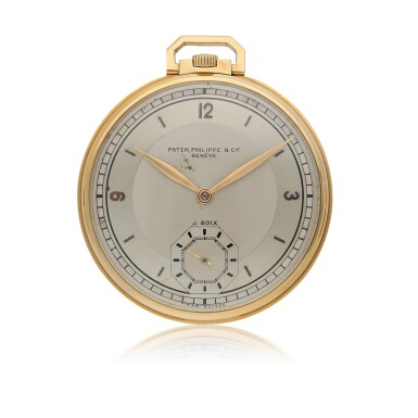 PATEK PHILIPPE |  RETAILED BY J.BOIX   YELLOW GOLD OPEN-FACED WATCH   MADE IN 1927