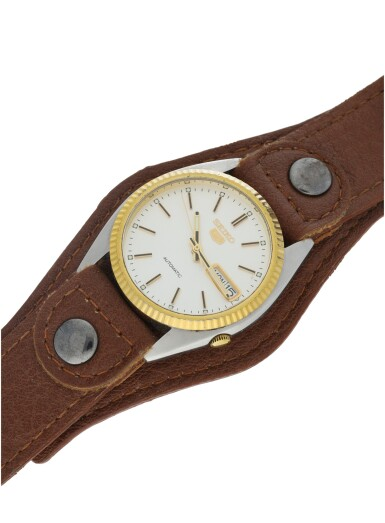 View 6. Thumbnail of Lot 59. A STAINLESS STEEL AND GOLD AUTOMATIC WRISTWATCH WITH DAY AND DATE, CIRCA 1998.