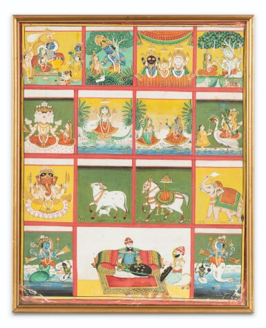 View 6. Thumbnail of Lot 35. RAJASTHAN, 19TH CENTURY | SEVEN INDIAN MINIATURES.