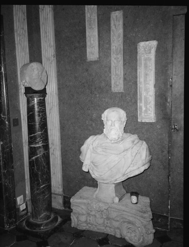 View 7. Thumbnail of Lot 121. Italian, 17th century | Monumental Bust of a Philosopher.