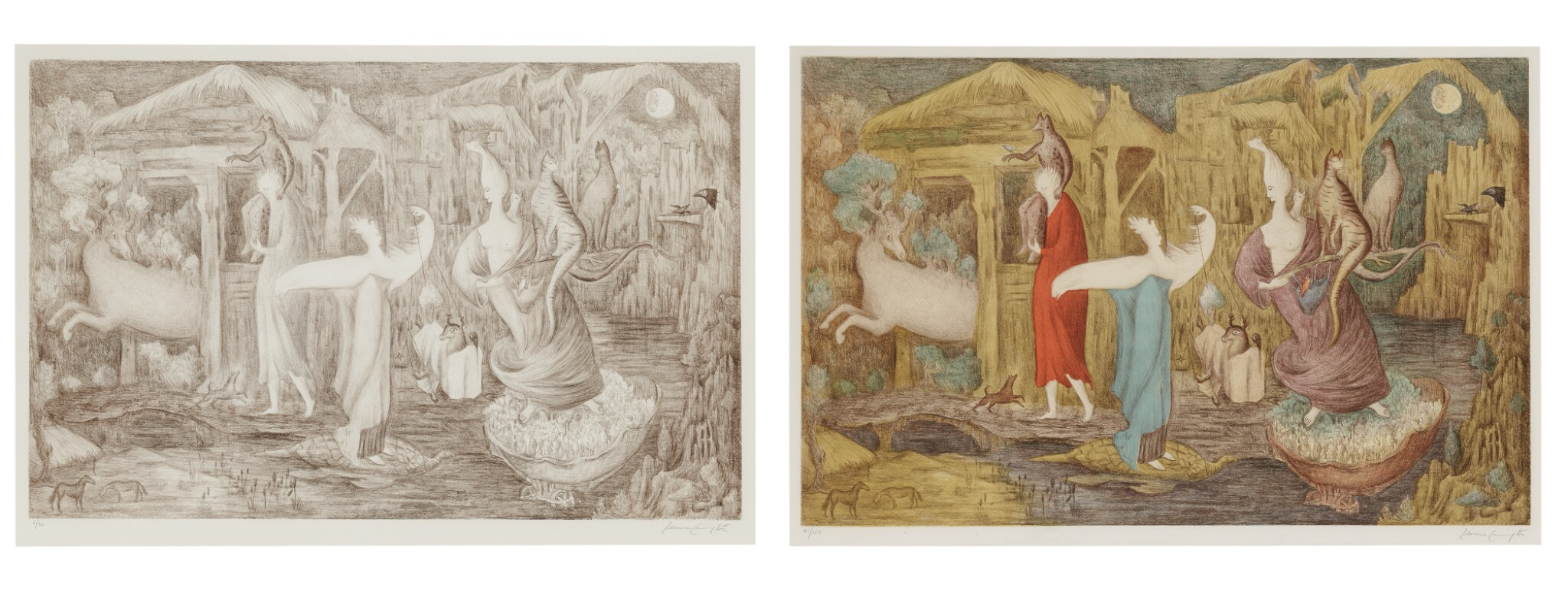 View full screen - View 1 of Lot 35. LEONORA CARRINGTON   TUESDAY: TWO PRINTS.