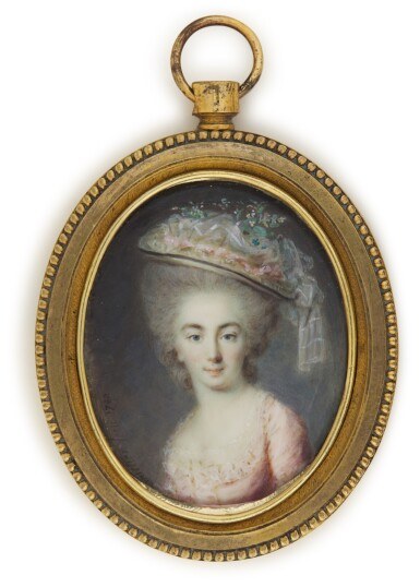 View 1. Thumbnail of Lot 141. Portrait of a lady, traditionally identifed as the Comtesse de Provence.