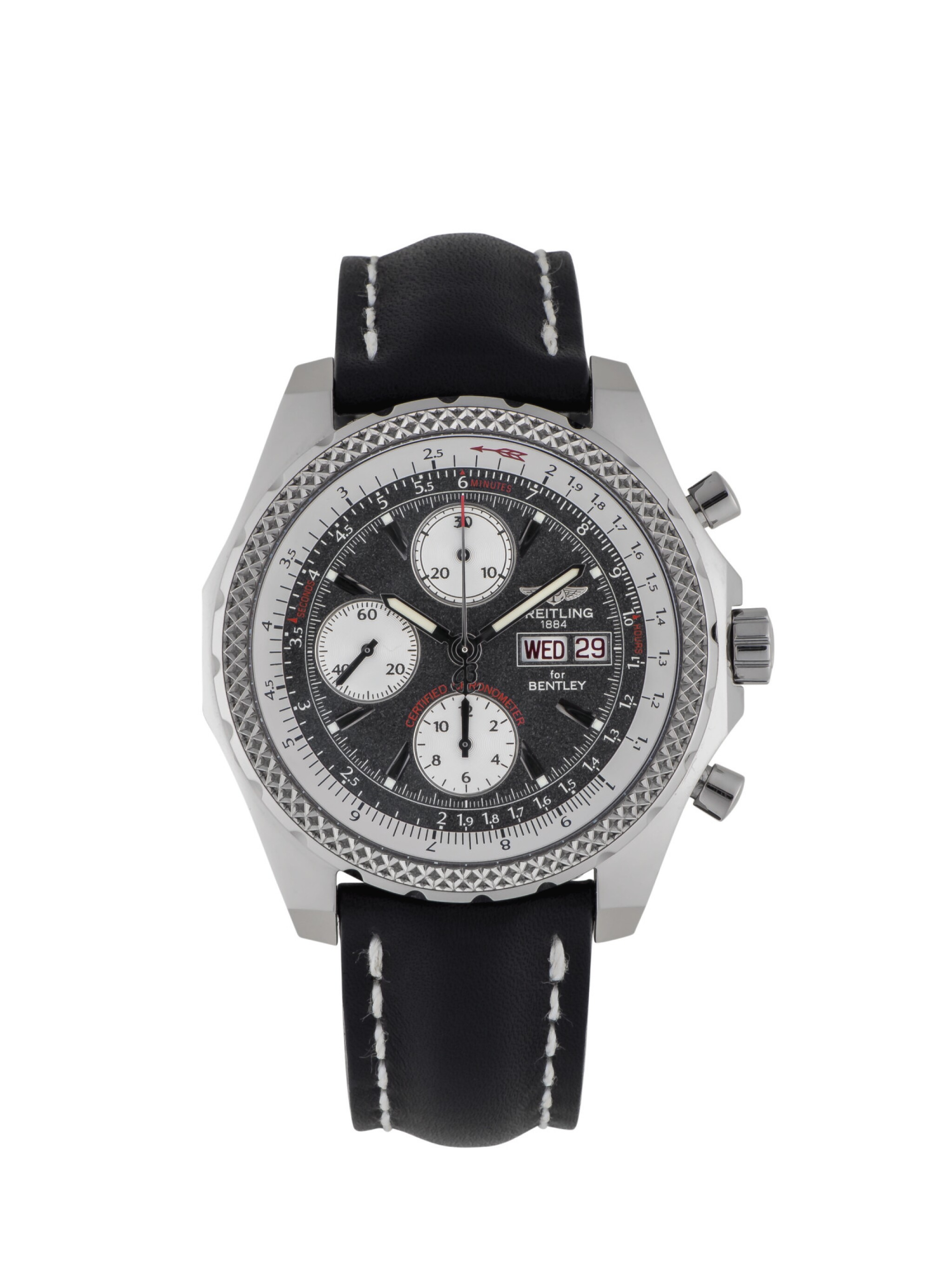 View full screen - View 1 of Lot 86. BREITLING | BENTLEY GT, REF J13362 LIMITED EDITION WHITE GOLD CHRONOGRAPH WRISTWATCH WITH DAY AND DATE CIRCA 2004.