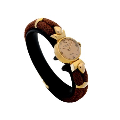 View 3. Thumbnail of Lot 314. RETAILED BY FRECCERO: A LADY'S PINK GOLD WRISTWATCH, CIRCA 1918.