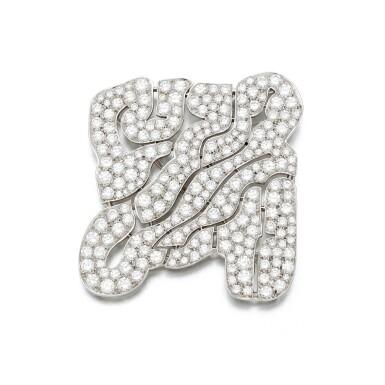 View 2. Thumbnail of Lot 125. Diamond brooch (Spilla in diamanti).