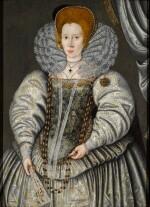 SIR WILLIAM SEGAR     PORTRAIT OF ELIZABETH 'BESS' THROCKMORTON, LADY RALEIGH (1565–C. 1647)
