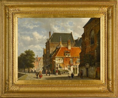 View 2. Thumbnail of Lot 85. Figures on a Sunlit Street.