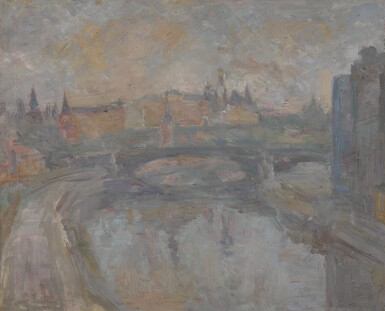 View 1. Thumbnail of Lot 79. ROBERT RAFAILOVICH FALK   The Kremlin on a Grey Day, View from the Artist's Studio.