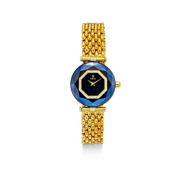 View 2. Thumbnail of Lot 1118. H. STERN | A SET OF TWO YELLOW GOLD, DIAMOND AND SAPPHIRE-SET BRACELET WATCHES, CIRCA 1995.