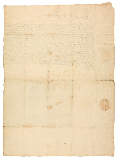View 2. Thumbnail of Lot 44. ELIZABETH I | early letter signed, to Edward North, First Baron North, 1560.