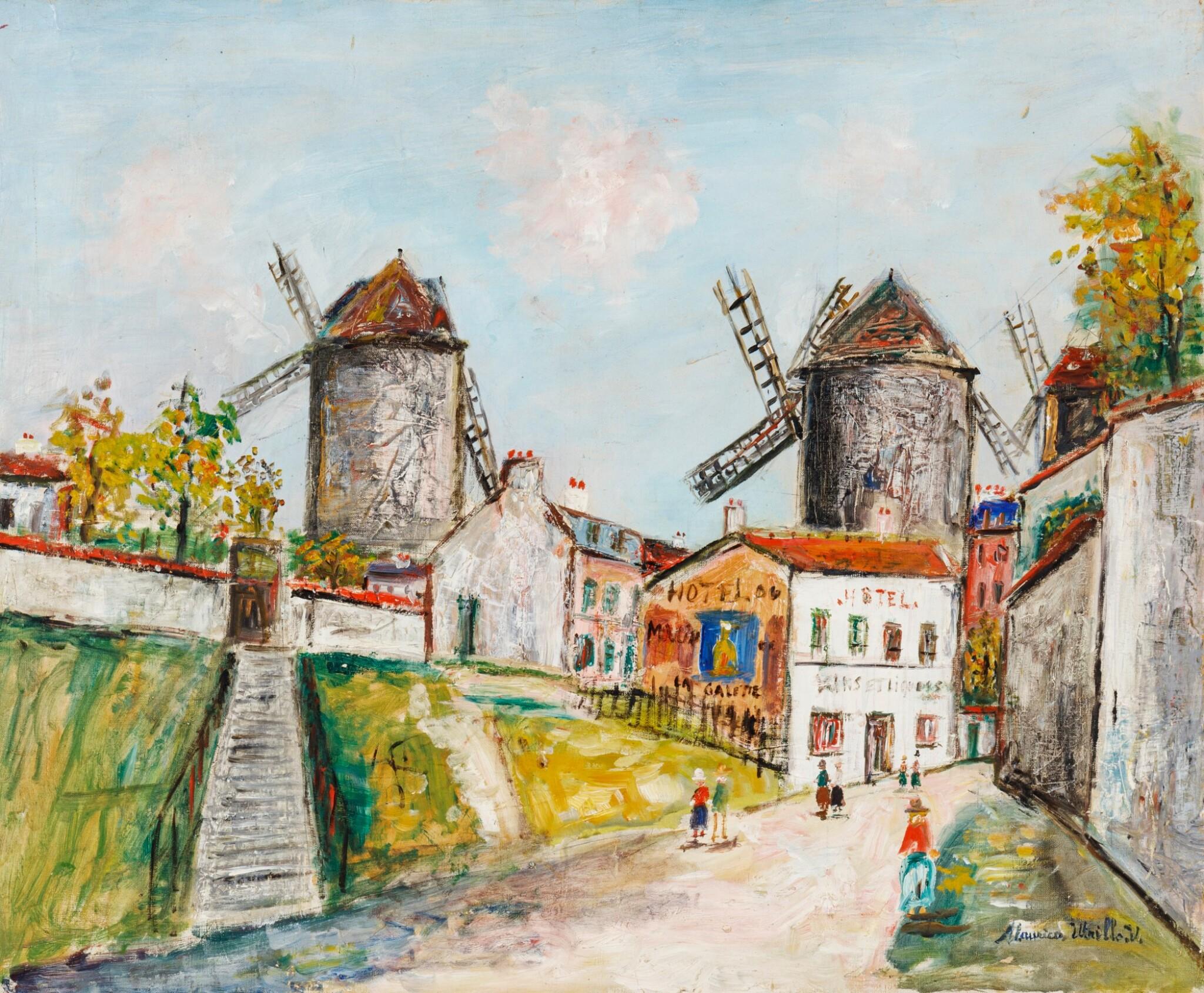 View 1 of Lot 39. Les Trois moulins, Montmartre.
