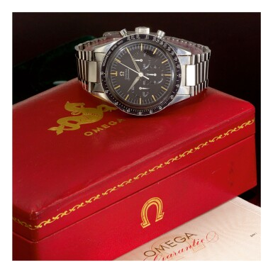 View 2. Thumbnail of Lot 30. OMEGA |  SPEEDMASTER REF 2915-3,  A STAINLESS STEEL CHRONOGRAPH WRISTWATCH WITH BRACELET, MADE IN 1959.