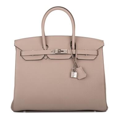 Hermès Gris Asphalte Togo Birkin 35cm Palladium Hardware