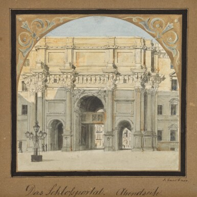 View 1. Thumbnail of Lot 69. Das Schloßportal, Abendseite (West elevation of the Palace Gate).
