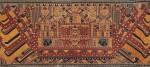 "Tissu cérémoniel ""à jonques"" palepai, Lampung, Sumatra, Indonésie, 19e siècle | Ceremonial hanging ""ship cloth"" palepai, Lampung, Sumatra, Indonesia, 19th century"