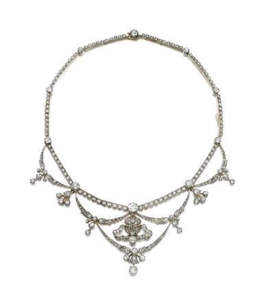 DIAMOND TIARA, LATE 19TH CENTURY