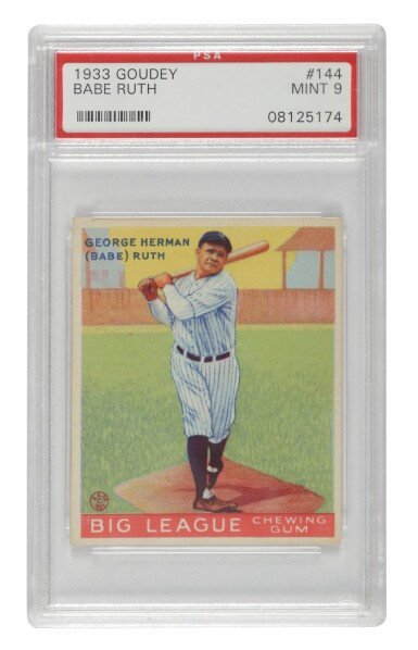 """View 1. Thumbnail of Lot 136. Ruth, George Herman (""""Babe"""") 