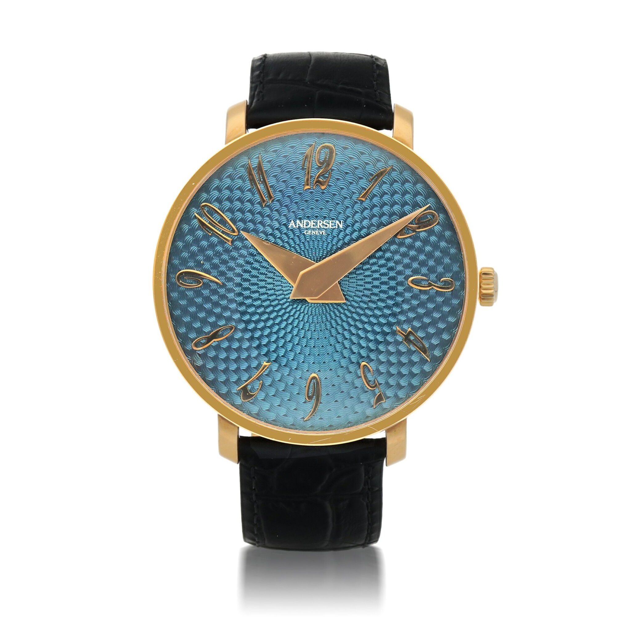 View full screen - View 1 of Lot 476. KRONE LIMITED EDITION YELLOW GOLD WRISTWATCH WITH ENAMEL DIAL CIRCA 2010.
