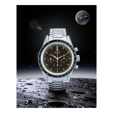 View 1. Thumbnail of Lot 27. OMEGA |  SPEEDMASTER REF 105.002-62 SC, A STAINLESS STEEL CHRONOGRAPH WRISTWATCH, MADE IN 1963.