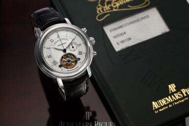 View 2. Thumbnail of Lot 368. Reference 25909BC Jules Audemars  A white gold tourbillon chronograph wristwatch, Circa 2000 .