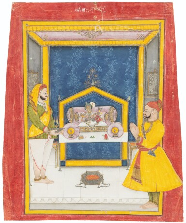 View 9. Thumbnail of Lot 35. RAJASTHAN, 19TH CENTURY | SEVEN INDIAN MINIATURES.