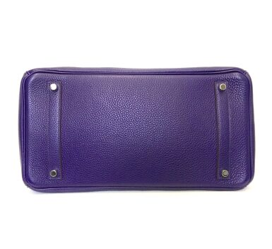 View 5. Thumbnail of Lot 717. HERMÈS | ULTRAVIOLET BIRKIN 35 IN TAURILLON CLEMENCE LEATHER WITH PALLADIUM HARDWARE, 2010.