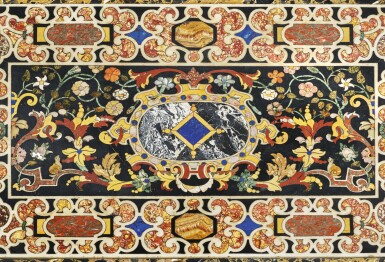 View 3. Thumbnail of Lot 848. AN ITALIAN BAROQUE COMMESSO DI PIETRE DURE PANEL, ATTRIBUTED TO THE GRAND DUCAL WORKSHOPS, FLORENCE, EARLY 17TH CENTURY.