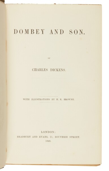 Dickens, Dombey and Son, 1848, first edition in book form