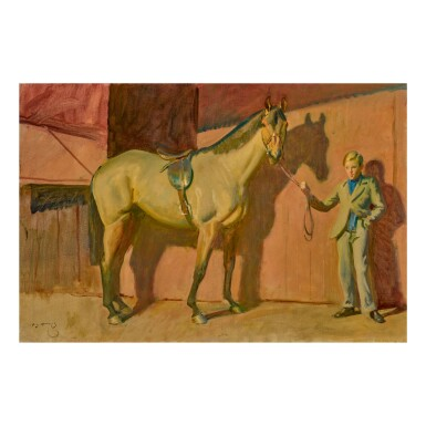 View 1. Thumbnail of Lot 441. SIR ALFRED JAMES MUNNINGS, P.R.A., R.W.S. | MY HORSE ANARCHIST.