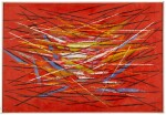 HERBERT BAYER   RED WITH LINES
