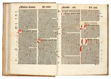 Thomas Aquinas, De veritate, Cologne, 1499, later vellum