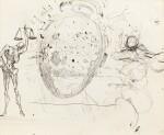SALVADOR DALÍ   ETUDE POUR LE TABLEAU VITESSE MAXIMALE DE LA VIERGE DE RAPHAËL (1954) ET DEUX PERSONNAGES - RECTO; ETUDE POUR LE TABLEAU GALATÉE EN FORMATION (VERS 1954) - VERSO