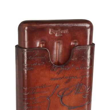 View 8. Thumbnail of Lot 3. Berluti   Cigar Box, Cigar Case, Club Chairs and Cyrus Slippers (Boîte à Cigares, Étui à Cigares, Fauteuils Club et Slipper Cyrus ) [5 Items / Articles].