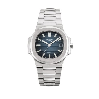 View 1. Thumbnail of Lot 2087. Patek Philippe   Nautilus, Reference 5800, A stainless steel bracelet watch with date, Retailed by Tiffany & Co., Circa 2008   百達翡麗   Nautilus 型號5800   精鋼鏈帶腕錶,備日期顯示,由 Tiffany & Co. 發行,約2008年製.