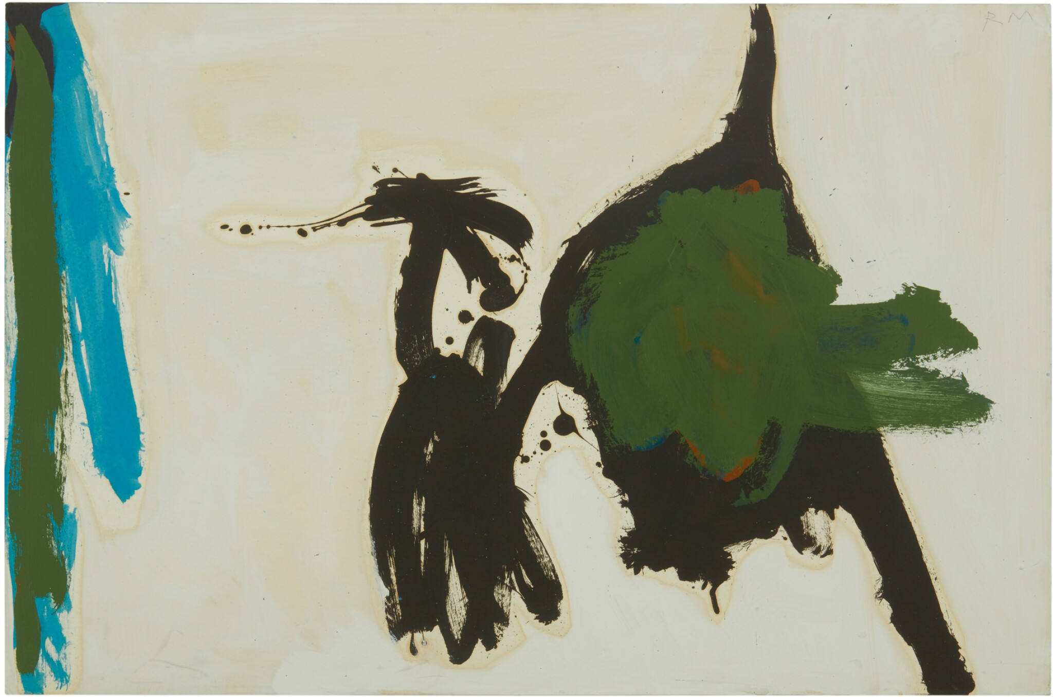 ROBERT MOTHERWELL | TWO FIGURES WITH GREEN STRIPE