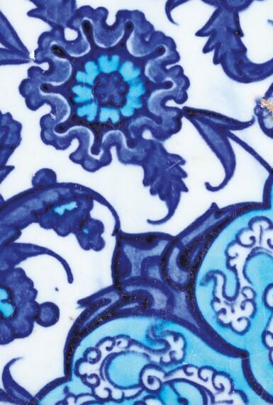 View 5. Thumbnail of Lot 129. Ten Pottery Tile Fragments, Mamluk, Ottoman, Timurid and European, 15th-18th centuries.