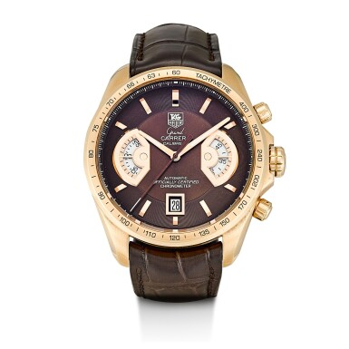 TAG HEUER | GRAND CARRERA, REFERENCE CAV514C, A LIMITED EDITION PINK GOLD CHRONOGRAPH WRISTWATCH WITH DATE, CIRCA 2014