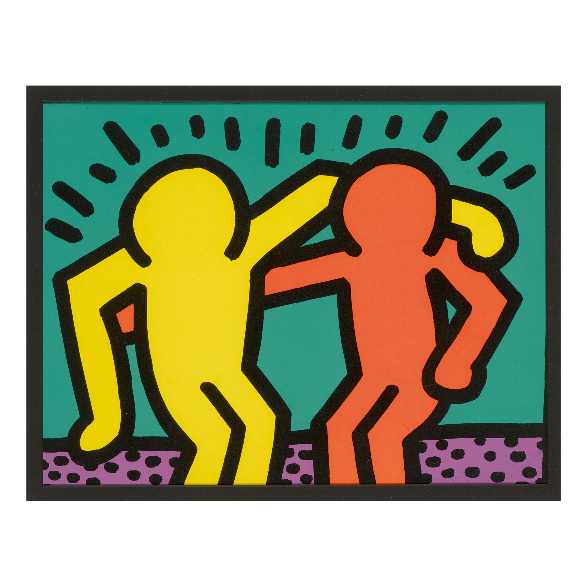 View full screen - View 1 of Lot 205. KEITH HARING | UNTITLED [BEST BUDDIES] (SEE L. P. 82).