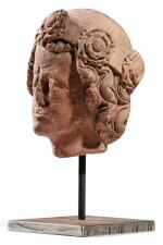 UPPER RHINELAND, PROBABLY STRASBOURG OR FREIBURG IM BREISGAU, CIRCA 1300 | A HEAD OF A SAINT