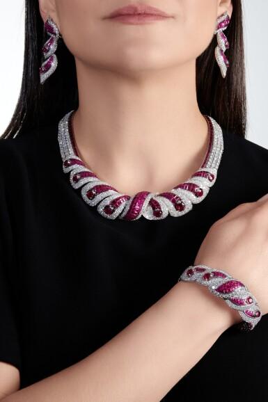 View 4. Thumbnail of Lot 639. Mouawad   Ruby and diamond parure   Mouawad   紅寶石配鑽石首飾套裝.