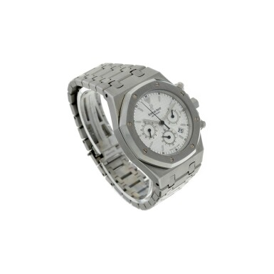 View 3. Thumbnail of Lot 12. REFERENCE 25860ST.OO.110ST.05 ROYAL OAK A STAINLESS STEEL AUTOMATIC CHRONOGRAPH BRACELET WRISTWATCH WITH DATE AND BRACELET, DONATED AND SIGNED BY GEORGE H.W. BUSH TO A SAVE THE CHILDREN CHARITY IN 2007.