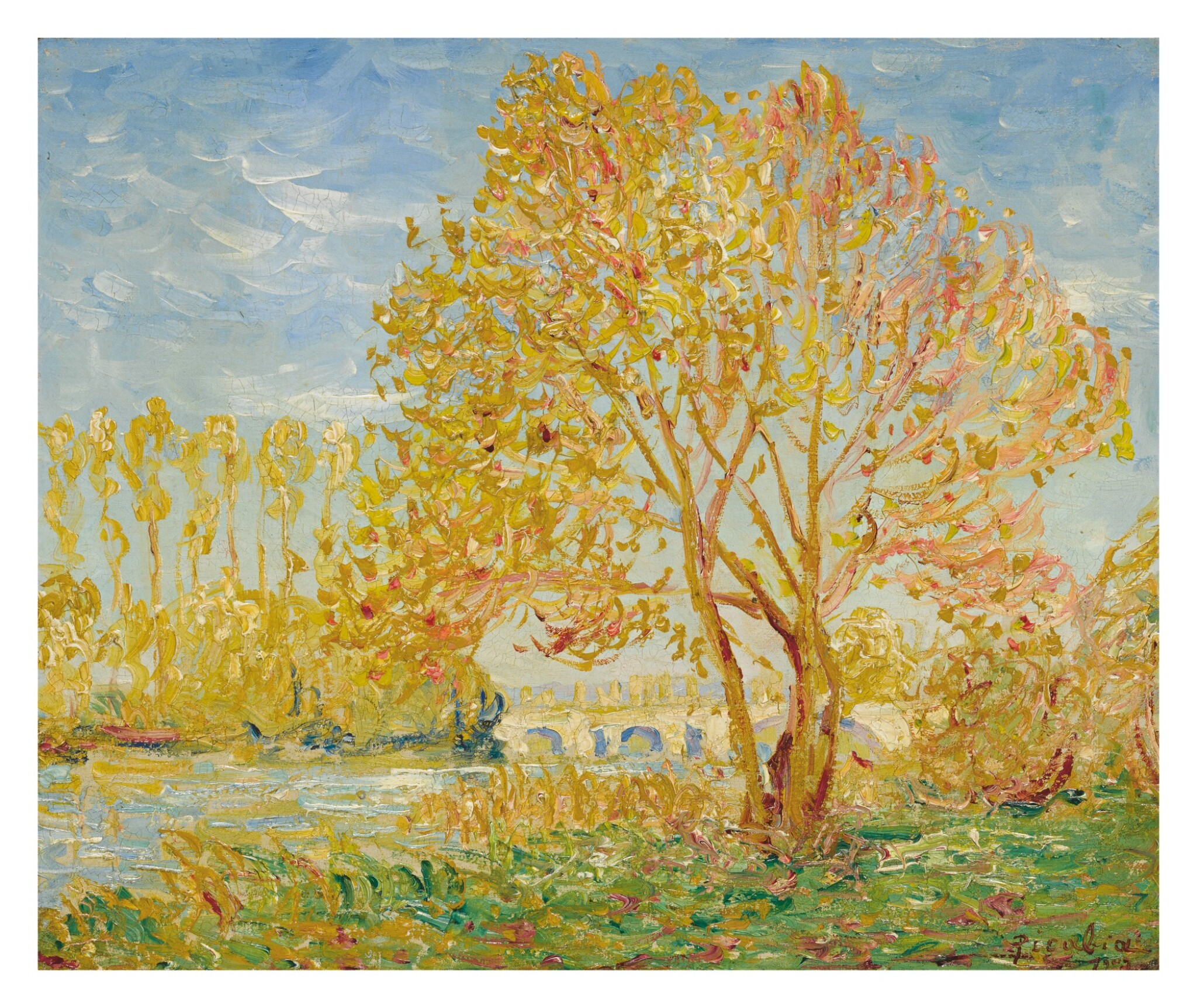 View full screen - View 1 of Lot 3. FRANCIS PICABIA   EFFET D'AUTOMNE DANS L'YVONNE.