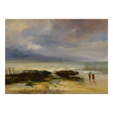 JULES COIGNET | VIEW OF THE BEACH AT DIEPPE