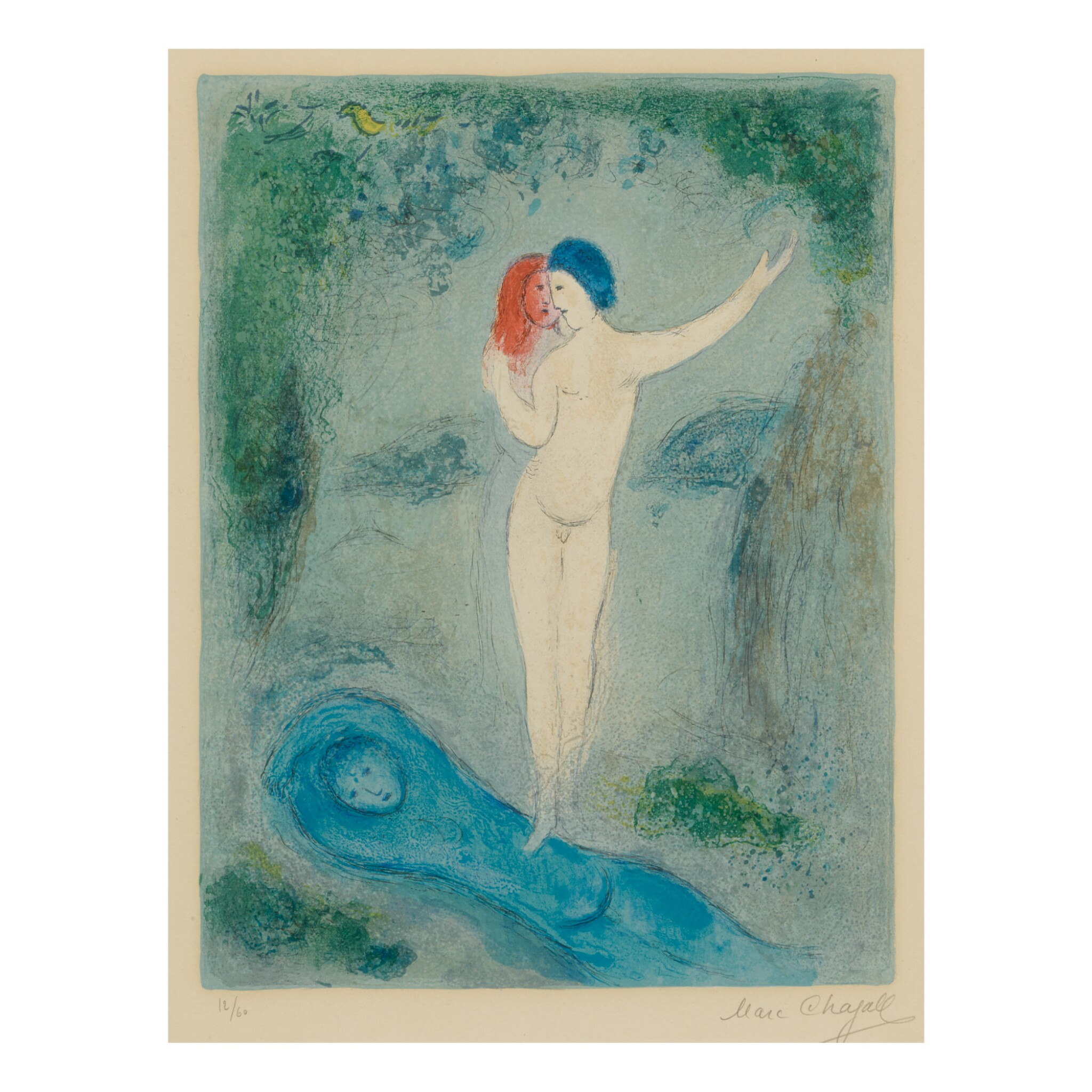 View full screen - View 1 of Lot 84. MARC CHAGALL   CHLOÉ'S KISS (M. 316; SEE C. BKS. 46).