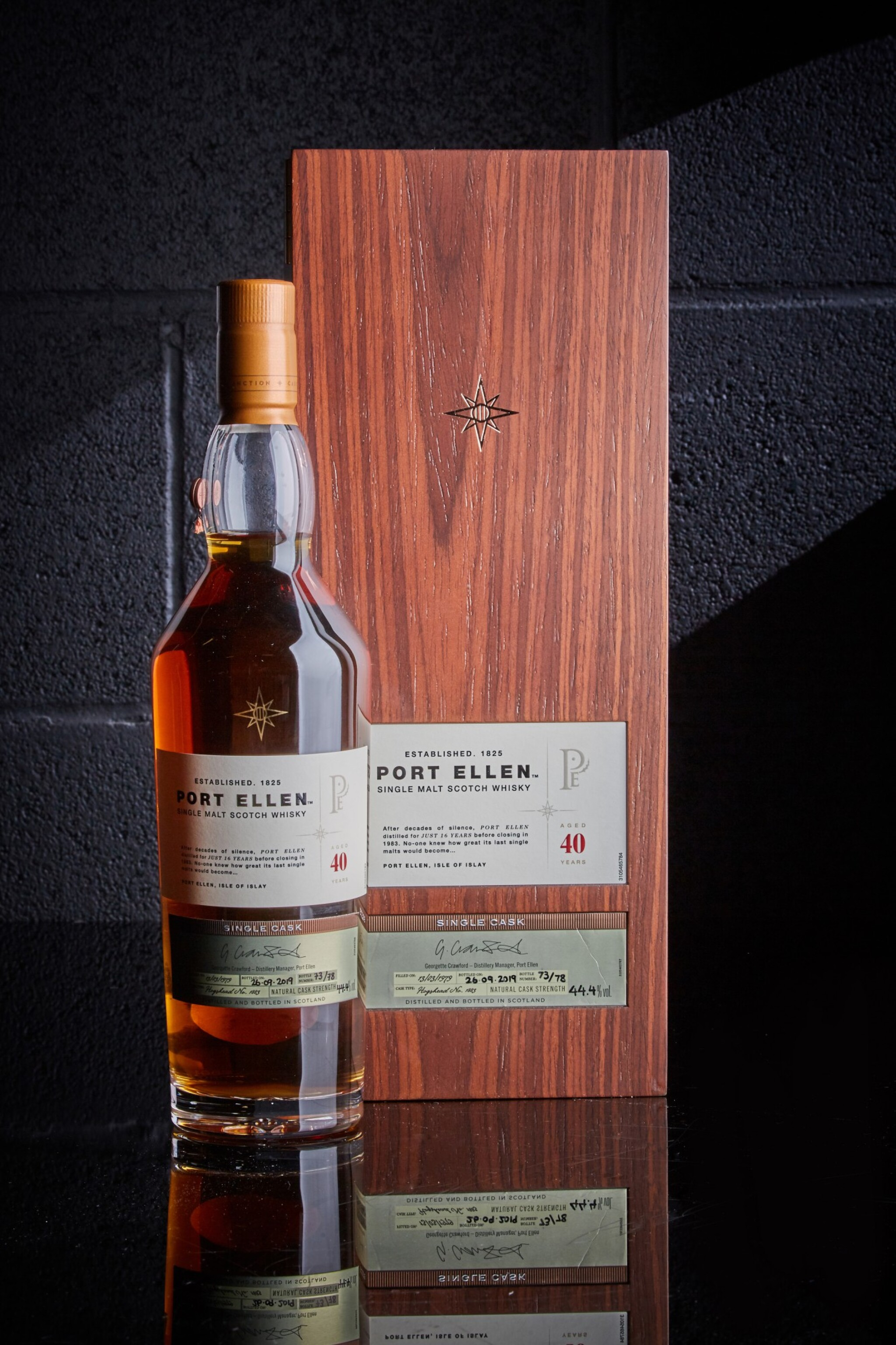 View full screen - View 1 of Lot 100. Port Ellen 40 Year Old Casks Of Distinction #1883 44.4 abv 1979 .