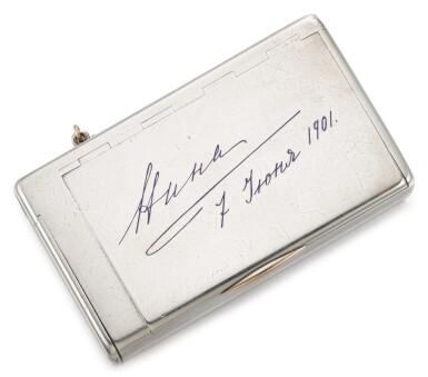 View 1. Thumbnail of Lot 68. A Fabergé silver cigarette case, workmaster Michael Perchin, St Petersburg, circa 1900.