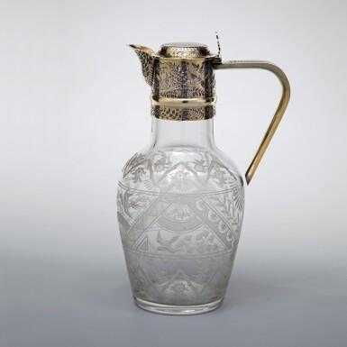 A VICTORIAN SILVER-GILT MOUNTED CLARET JUG | ALDWINKLE & SLATER, LONDON | 1885